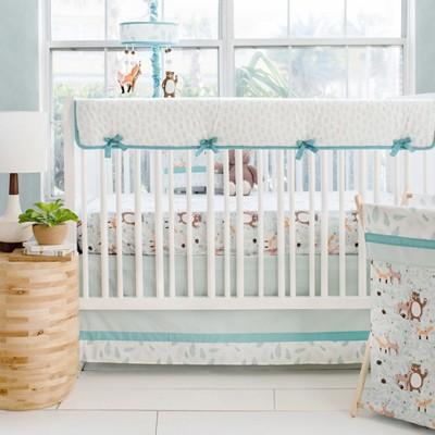 Crib Liner My Baby Sam White Aqua