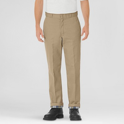 Dickies® Men's Relaxed Straight Fit Flannel-Lined Twill Work Pants