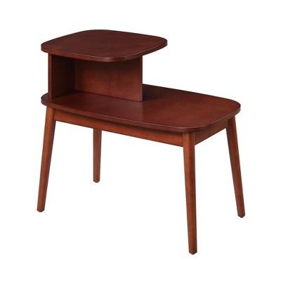 maxwell mid century modern end table mahogany breighton home