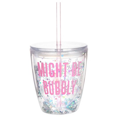 Slant Collections Sip and Sparkle 10oz Double Wall Tumbler - Might be Bubbly