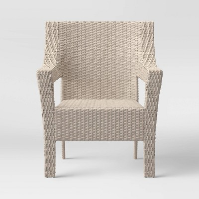 southcrest wicker stacking patio club chair gray threshold