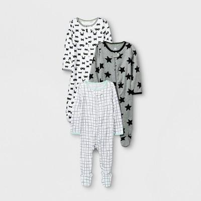 Baby Boys' Save the Day 3pk Zip Sleep 'N Play - Cloud Island™ White