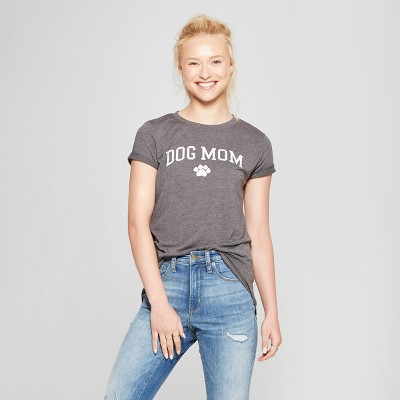 Women's Short Sleeve Dog Mom Graphic T-Shirt - Modern Lux (Juniors')