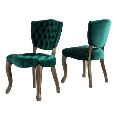 navy blue dining chairs set of 2 small wooden chair bates tufted christopher a green circle with white checkmark in the center