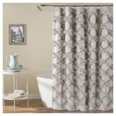 Ruffle Diamond Shower Curtain - Lush Decor
