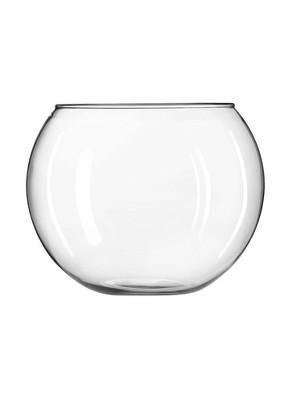 "Glass Globe Vase Clear 8"" - Libbey"