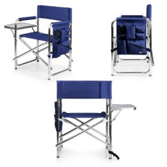 Picnic Time Sports Chair Poly Rocking With Table And Pockets 45 Navy Target