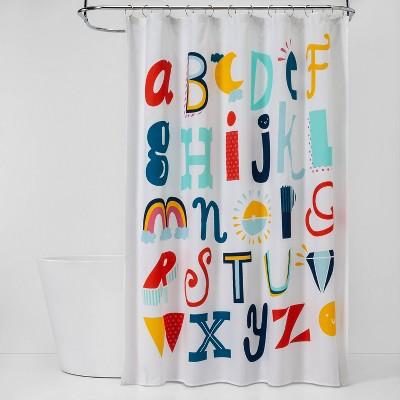 abc s shower curtain pillowfort
