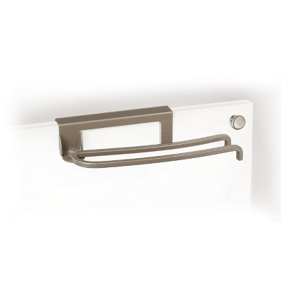 Lynk Professional Over Cabinet Door Pivoting Towel Bar Satin Nickel