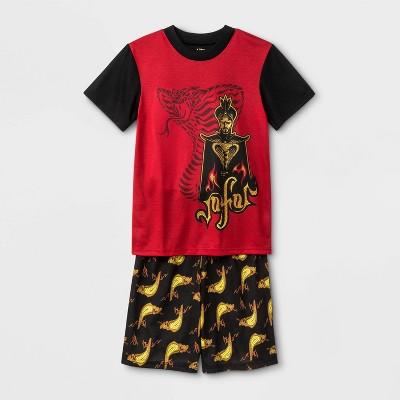 Boys' Aladdin 2pc Pajama Set - Black/Red
