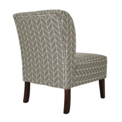 Accent Chairs Gray Pattern Rattan Swing Chair Herringbone Upholstered Glitzhome Target