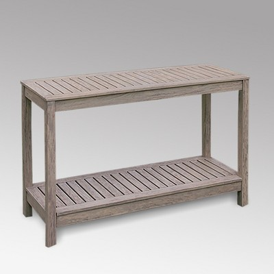 westlake patio console table gray cambridge casual