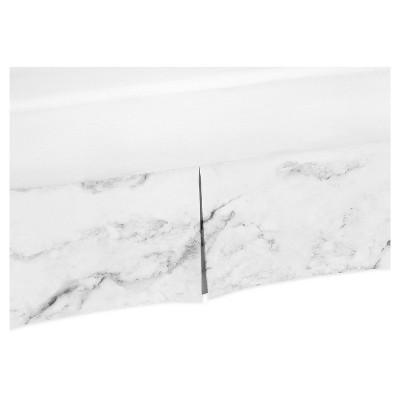 Black & White Marble Bed Skirt - Sweet Jojo Designs®
