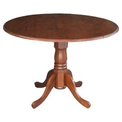 Pedestal Kitchen Table Cabinets Honolulu Round Drop Leaf Dining Wood Espresso International About This Item