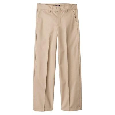 Dickies Boys' Flat Front Uniform Chino Pants - Khaki