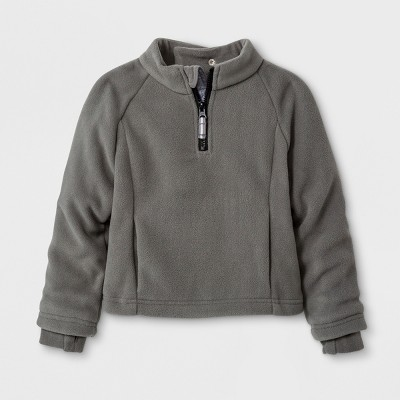 Toddler Boys' Adaptive Fleece Jacket - Cat & Jack™ Gray