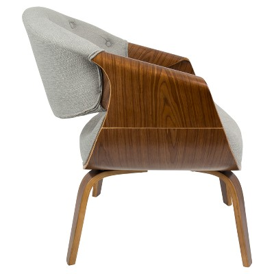 modern accent chairs quality bean bag curvo mid century chair lumisource target