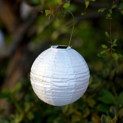 10 glow solar led outdoor lantern white