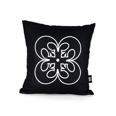 "Star Wars White Rebel Symbol 18""x18"" Black Square Outdoor Pillow"