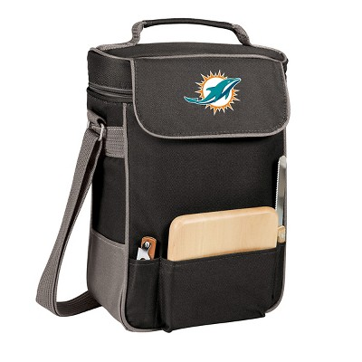 Miami Dolphins - Duet Wine and Cheese Tote by Picnic Time (Black)