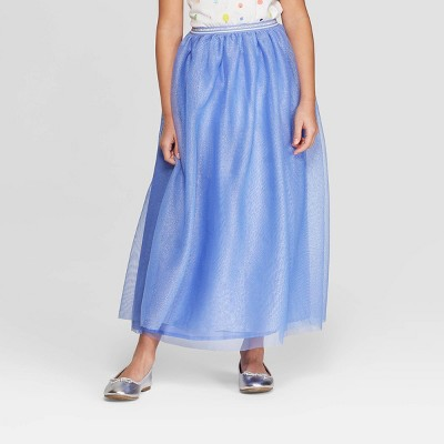 Girls' Tulle Maxi Skirt - Cat & Jack™ Periwinkle