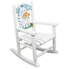 Rocking Chair Kids Burgundy Office Safari Zebra Teamson Target