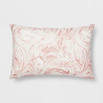 Pink Marble Lumbar Throw Pillow  Room Essentials  Target