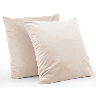 mdesign decorative hypoallergenic square throw pillow covers pack of 2 cream