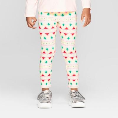 Toddler Girls' Fairisle Leggings - Cat & Jack™ Cream