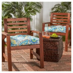 Target Chair Cushions Table With 6 Chairs Set Of 2 Outdoor Painted Paisley Greendale Home Fashions