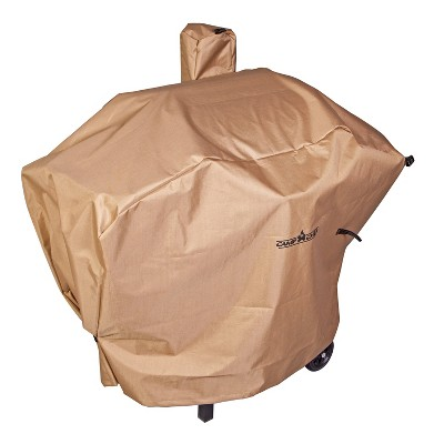 camp chef pellet grill long patio cover light brown