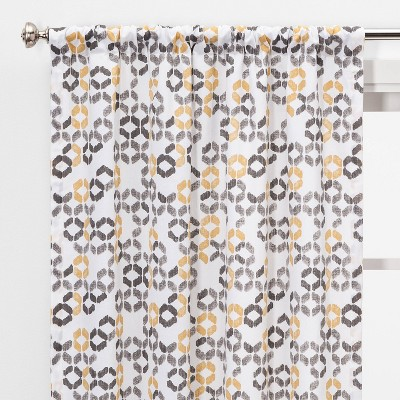 "2pc 84""x40"" Esina Light Filtering Honeycomb Window Curtain Panels Gray/Yellow - Project 62™"