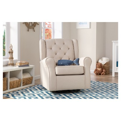 rocker glider chair chalk paint table and chairs delta children emma nursery swivel target 1 more