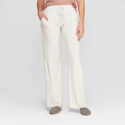 Women's Striped Beautifully Soft Pajama Pants - Stars Above™ Gray
