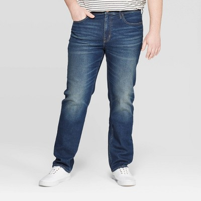 Men's Big & Tall Regular Slim Straight Fit Jeans - Goodfellow & Co™ Medium Blue