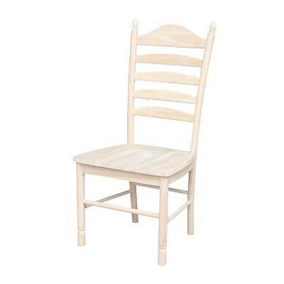 unfinished ladder back chairs screw on chair glides set of 2 bedford ladderback international concepts