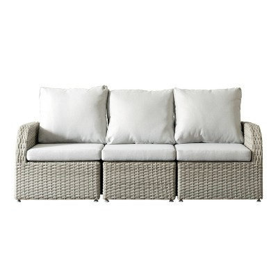 outdoor sofas brisbane free sofa leeds 3pc resin wicker patio with weather target resistant fabric corliving