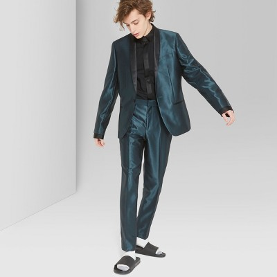 Men's Casual Fit Mid-Rise Straight Suit Pants - Original Use™ Green Bird