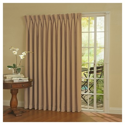 84 x100 thermaweave blackout patio door curtain panel bronze eclipse