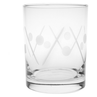 14oz 4pk Shimmy Double Old-Fashioned Glasses - Rolf Glass