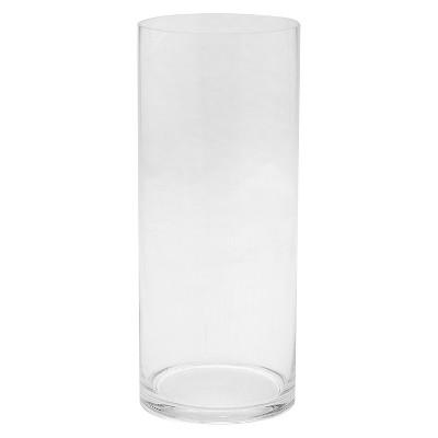 "14""x6"" Glass Cylinder Vase - Diamond Star"