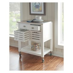 Wooden Kitchen Cart Bronze Faucet 2 Piece Robbin Wood White Linon Home Decor Target More