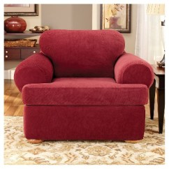 Sure Fit Stretch Pique 3 Piece T Cushion Sofa Slipcover Canvas 3pc Chair Target