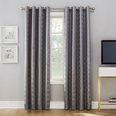 Rowes Woven Trellis Blackout Lined Grommet Curtain Panel - Sun Zero