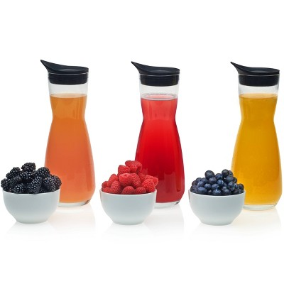 Libbey Make Your Own Mimosa Bar Carafe and Garnish Bowl with Lids - 6pc Set