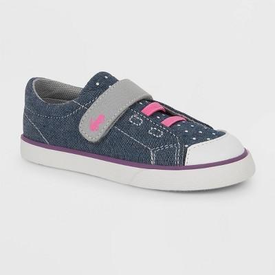 Toddler Girls' See Kai Run Basics Monterey II Dots Sneakers - Blue