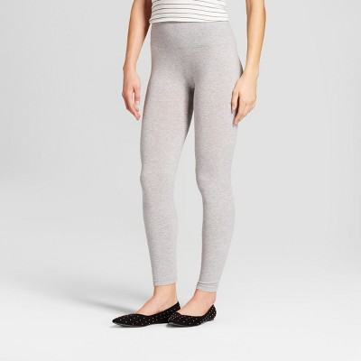 Women's High Waist Cotton Blend Seamless Leggings - A New Day™ Heather Gray