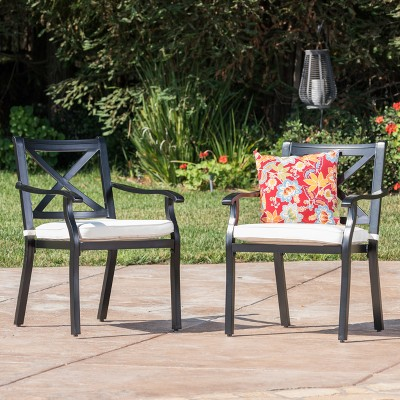 aluminum dining chairs target sheepskin chair pad australia exuma 2pk cast black christopher knight home