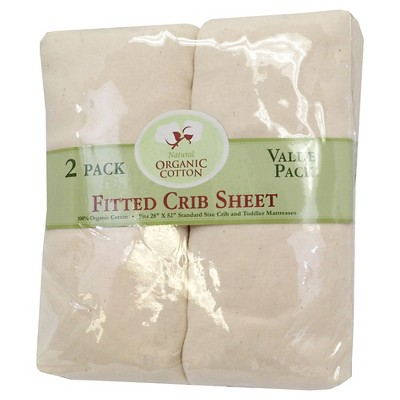 TL Care® Baby Fitted Crib Sheet 2 pack Sandstone