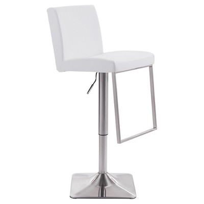 """Faux Leather Adjustable 26"""" Bar Chair - ZM Home"""